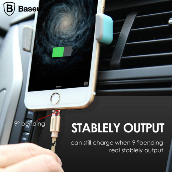 Baseus Insnap 1M Braided Magnetic 2.4A Quick Charge & Data Sync Micro USB